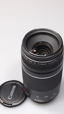 CANON EF 75-300mm 1:4-5.6 III ZOOM LENS W/CAPS EXCELLENT+++