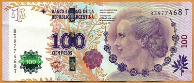 ARGENTINA ND (2012) Very Fine 100 Pesos Banknote Paper Money Bill P-358c(1)