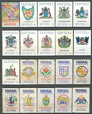 217 Australian Matchbox Labels (Federal) – 1960-70's – Various Series-All Diff