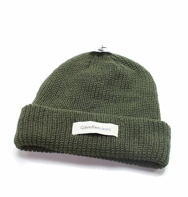 1fc6d710dee Calvin Klein Jeans NEW Men s Olive Green One Size Cable Knit Beanie  35  692