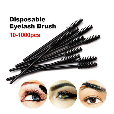 10/20/50/100/200/500/1000pcs Disposable Mascara Wands Eyelash Brush Applicator