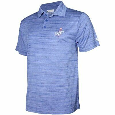 1793197cf LOS ANGELES DODGERS Antigua Embroidered Pique Xtra-Lite Blue Polo ...