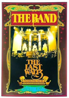 Bob Masse The Band The Last Waltz Rock Concert Poster Signed By Artist