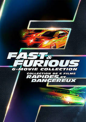 Fast  Furious: 6 Movie Collection (DVD, 2014, 6-Disc Set, Canadian) DISC IS MINT