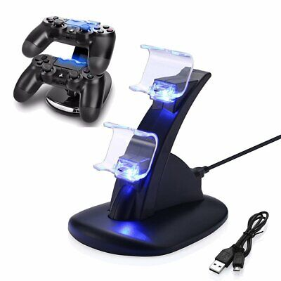For PlayStation PS4 Controller LED Charger Dock Station Dual USB Fast Charging