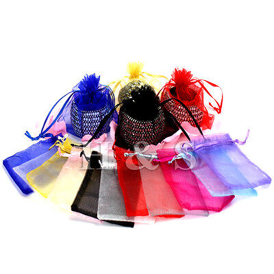 100 x Organza Wedding Party Jewellery Gift Favour Bag Pouch Box Large Size 13x18