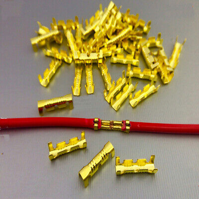 100PCS WIRING DOCKING CONNECTOR LINE PRESSING QUICK CONNECT CRIMP TERMINAL Fancy