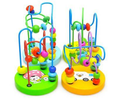 Children Kids Baby Colorful Wooden Mini Around Beads Educational Game Animal Toy