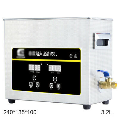 Digital Ultrasonic Cleaner Stainless Steel Cleaning Timer 3.2L Stainless Steel