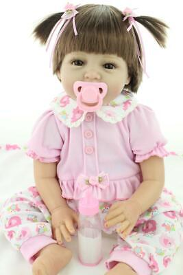 Real Life Baby Reborn Doll Realistic 22 inch Vinyl Silicome Soft Baby Child Toys