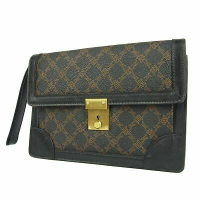 9280ce1ccb0 AUTH BALLY VINTAGE Logos Pattern PVC Leather Clutch Bag F/S 3643 ...