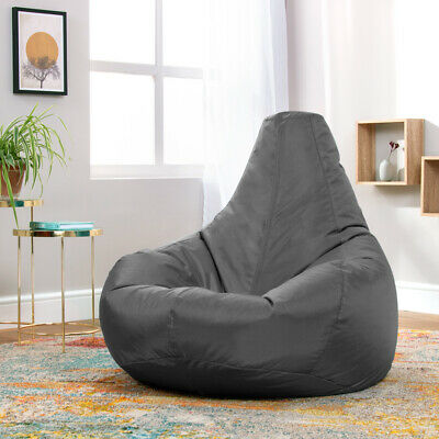 Slate Grey Bean Bag Recliner Gaming Chair Indoor Outdoor Extra Large Gamer Chair