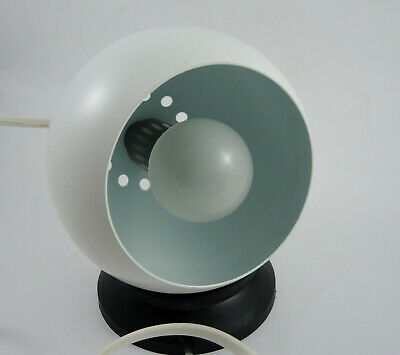 Vintage Danish Modern Lyfa Magnetic Ball Sconce Light White #2
