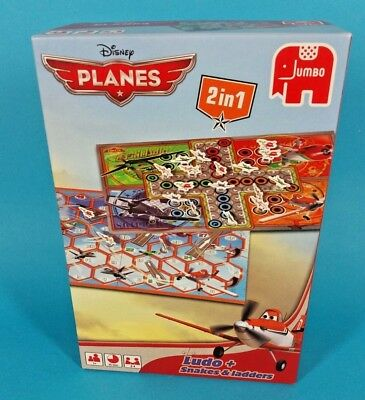 Disney Planes 2 in 1 Ludo + Snakes & Ladders Board Game By Jumbo *VGC* FREEPOST