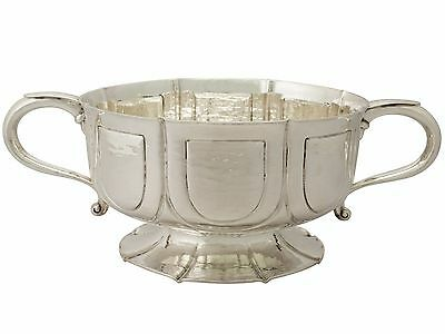 Antique Edwardian Arts and Crafts Style Sterling Silver Presentation Bowl 1756g
