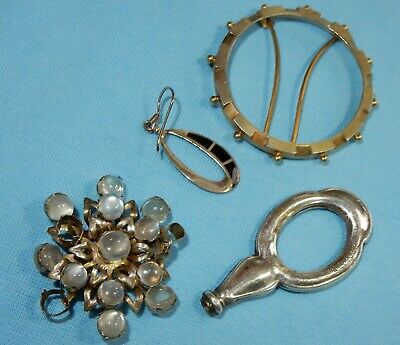 Antique & Vintage Mixed Jewellery Including Hallmarked Silver Scent Bottle