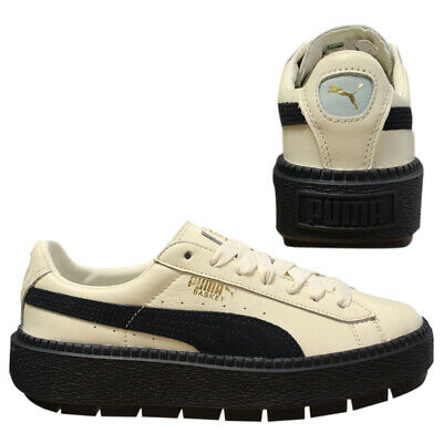 new products 10d03 46fd6 PUMA PLATFORM TRACE Block Womens Cleated Leather Low Top Trainers 367067 02  D18