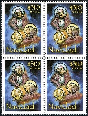 Chile 2013 Stamp # 2509 Mnh Block Of Four Christmas