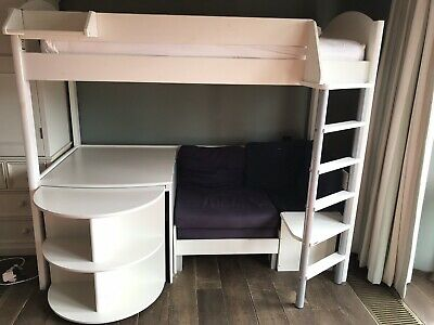 Sensational Stompa High Sleeper Bed With Sofa Bed And Desk White Gamerscity Chair Design For Home Gamerscityorg