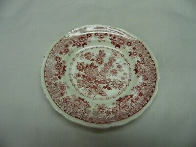 Rare Antique Adams Pearlware Childs Toy Cup Plate /  Polychrome Floral