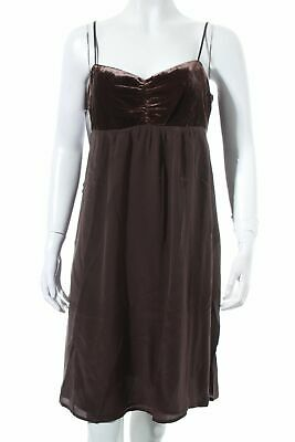 HALLHUBER DONNA Babydollkleid dunkelbraun Party-Look Damen Gr. DE 40 Kleid Dress