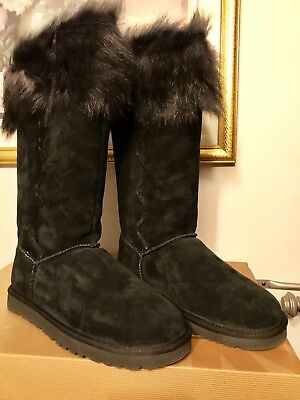 a65459ee43f UGG ROSANA WATER-RESISTANT Chestnut Suede Toscana Cuff Tall Boots ...