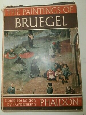 Libro arte Prima Edizione Paintings of Bruegel Book First edition 1955 Phaidon