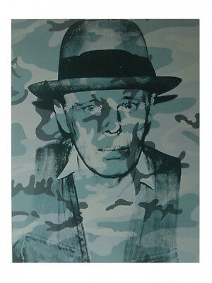 Joseph Beuys by Andy Warhol Art Print Offset Lithograph 1989 Poster 23.5x31.5