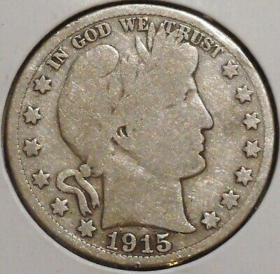 Barber Half - 1915-S - Historic Silver! - $1 Unlimited Shipping