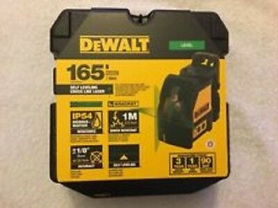 New Dewalt Dw088Cg Self Leveling Cross Line Laser Level 165' Range Kit 2667350
