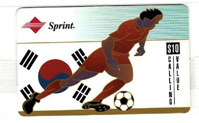 Japan phonecard by Sprint featuring flag and soccer player ==MINT==