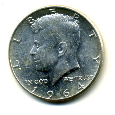 Silver 1964 P Kennedy Half Dollar 90% Silver Nice Scarce 50 Cent Face Coin#1505