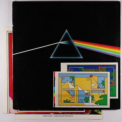 Pink Floyd - The Dark Side Of The Moon LP - Harvest Both Posters + Stickers
