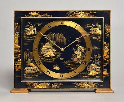 Very Attractive Large Vintage Smiths Chinoiserie Chinese Electric Mantel Clock