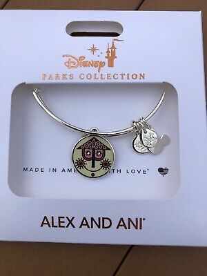 Disney Alex And Ani It's A Small World Double-sided Bracelet