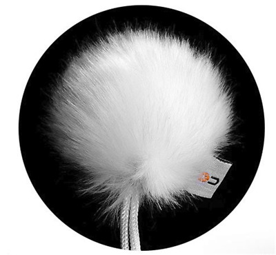 CoMica Furry Outdoor Microphone Wind Muff for Compact Lapel Lavalier Mics White