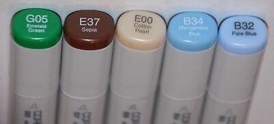 5 Copic SKETCH Markers -EARTH COLOR Set