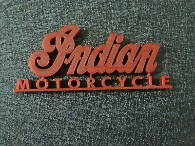 """4"""" Indian Motorcycle Desk Prop Toy Paperweight Decor Gas Oil Collectible"""