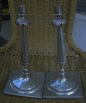 A Fine Pair Of Antique Solid Silver Central European Candlesticks-Hallmarked 12