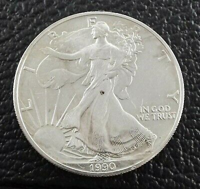 1990 - American Eagle - 1 oz Silver - US One Dollar Coin ~#1282