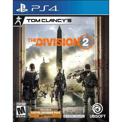 Tom Clancy's The Division 2 for PS4 BRAND NEW FACTORY SEALED *FREE SHIPPING*
