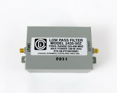 Coaxial Dynamics Low Pass RF Filter SMA Female 2435-50Z