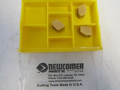 """Lot of 10 Newcomer 322A PV52 3//8/"""" Solid Square Carbide Boring Turning Inserts"""