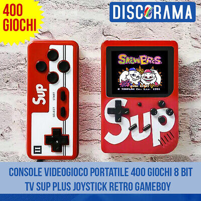 Console Videogioco Portatile 400 Giochi 8 Bit Tv Sup Plus Joystick Retro Gameboy