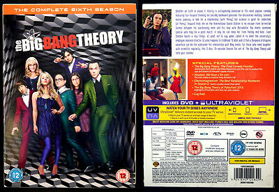 The Big Bang Theory : Series 6 Complete (DVD Box Set) 2013, Warner - Excellent