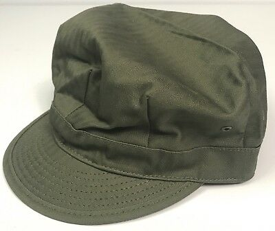 Wwii Us Light Green Hbt Combat Field Cap, Short Bill-Xlarge