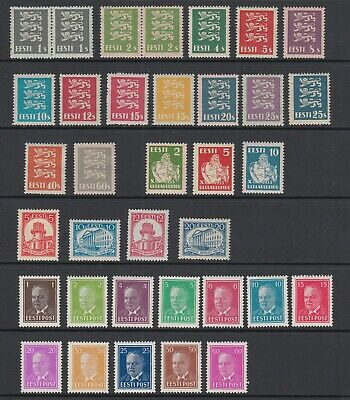 Estonia 1928 - 1938 MH collection, 35 stamps.