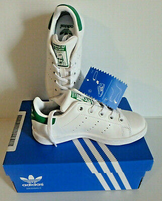 newest collection e09dc ade38 ADIDAS STAN SMITH J Unisex White Green US Junior Size 5.5 ...