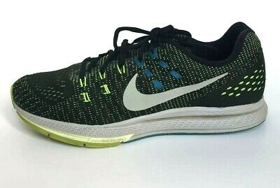 4a1e6a9bf6f8 Nike Air Zoom Structure 19 Size 9.5 Mens Running Shoes Black Volt Blue