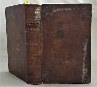 1700-1781 antique PENNSYLVANIA colonial COMMONWEALTH LAWS 1797 slave ale tavern